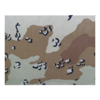 Hojas de Scrapbooking del camuflaje del desierto Plantillas De Membrete