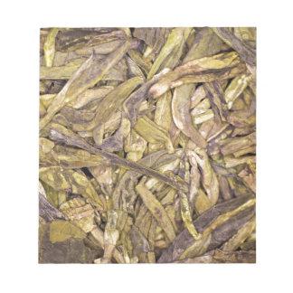 Hojas de té secadas del té verde chino libretas para notas