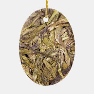 Hojas de té secadas del té verde chino adornos de navidad