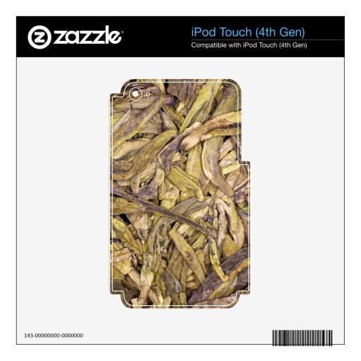 Hojas de té secadas del té verde chino calcomanías para iPod touch 4G
