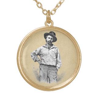 Hojas de Walt Whitman de la hierba Collar Dorado