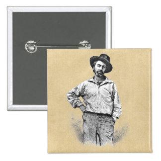Hojas de Walt Whitman de la hierba Pin Cuadrado