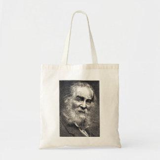 Hojas de Walt Whitman del grabado de la hierba Bolsa Tela Barata