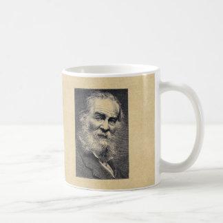 Hojas de Walt Whitman del grabado de la hierba Taza De Café