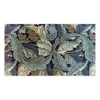 Hojas del Acanthus de la materia textil de William Tarjetas De Visita