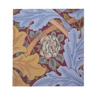 Hojas del Acanthus del diseño floral del vintage Bloc De Notas