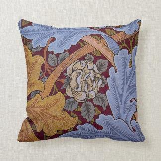 Hojas del Acanthus del diseño floral del vintage Cojín