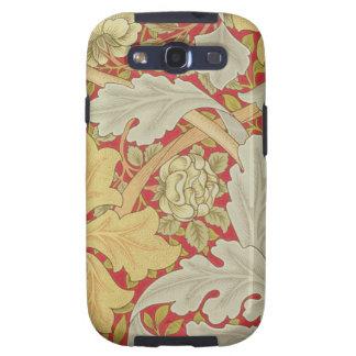 Hojas del Acanthus y color de rosa salvaje en un b Galaxy S3 Coberturas