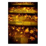 Hojas del amarillo del otoño plantilla de tarjeta de visita