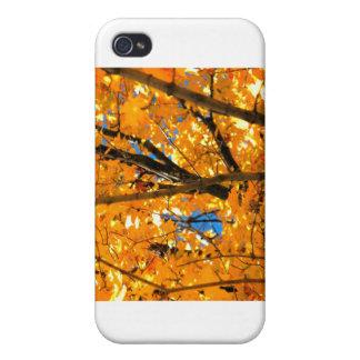 Hojas del amarillo iPhone 4 carcasa
