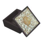 Hojas del aniversario de boda del oro 50.o caja de regalo de calidad