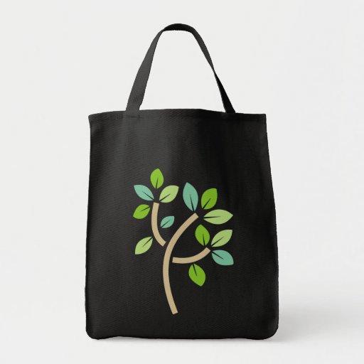 Hojas del árbol bolsas