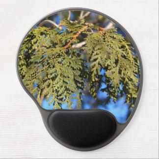 Hojas del árbol de cedro alfombrilla gel