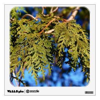 Hojas del árbol de cedro vinilo decorativo