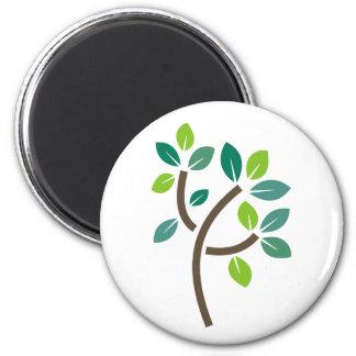 Hojas del árbol imán redondo 5 cm