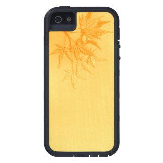 Hojas del arce japonés de Biege Funda iPhone SE/5/5s