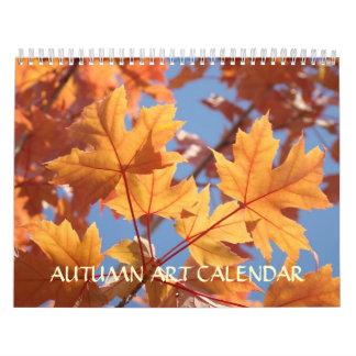 Hojas del ARTE de la CAÍDA de los calendarios del