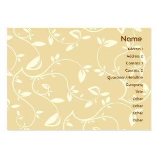 Hojas del beige - rechonchas tarjetas de visita grandes