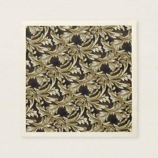 Hojas del bronce servilletas de papel