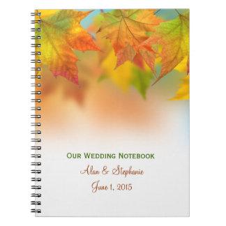 Hojas del cuaderno del planeamiento del boda del o