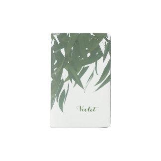 Hojas del eucalipto funda para libreta y libreta pequeña moleskine