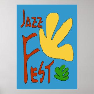 Hojas del Fest del jazz Posters