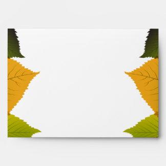 hojas del follaje de la opción 4 del sobre 5x7