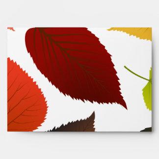 hojas del follaje de la opción 5 del sobre 5x7
