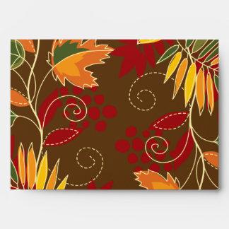hojas del follaje de otoño de la opción 1 del sobr sobre