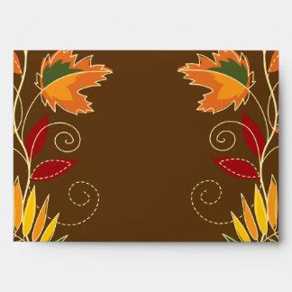 hojas del follaje de otoño de la opción 2 del sobr sobre