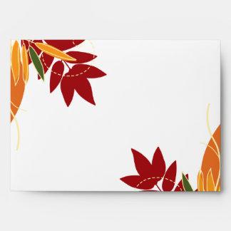 hojas del follaje de otoño de la opción 4 del sobr sobre