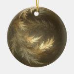 Hojas del fractal del cambio ornaments para arbol de navidad