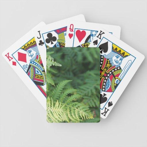 Hojas del helecho baraja cartas de poker