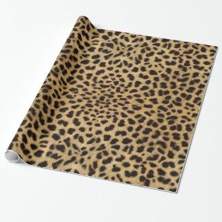 Hojas del modelo de la piel del leopardo papel de regalo