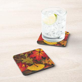 Hojas del otoño/de la caída - práctico de costa posavasos de bebidas