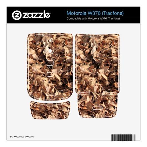 Hojas del otoño skins para motorola w376