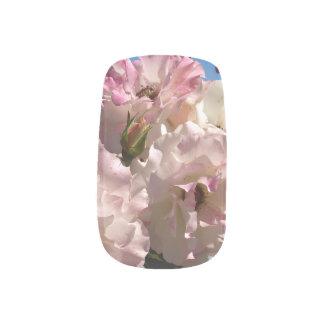 Hojas del polaco del personalizado del rosa blanco arte para uñas