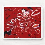 Hojas del rojo en el navidad Mousepad de la nieve Alfombrillas De Ratones