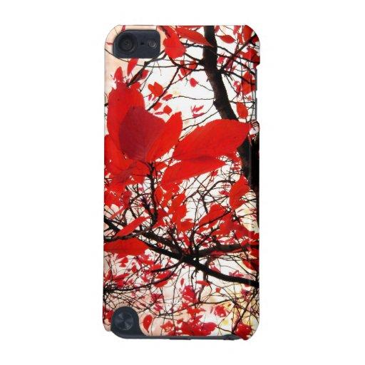 Hojas del rojo funda para iPod touch 5G