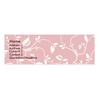 Hojas del rosa - flacas tarjeta de visita