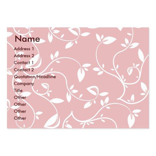 Hojas del rosa - rechonchas plantillas de tarjetas de visita