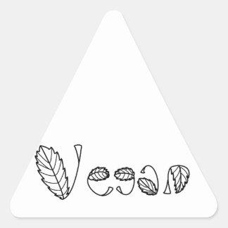 Hojas del vegano pegatinas de trianguladas