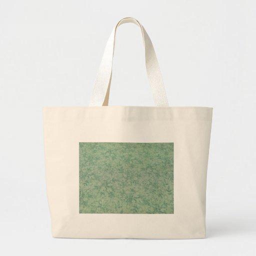 Hojas del verde bolsa tela grande