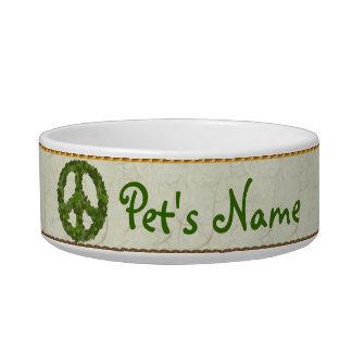 Hojas del verde de la paz comedero para mascota