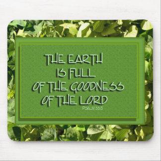 hojas del verde del verso de la biblia tapete de raton