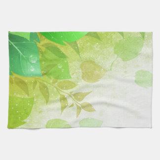 hojas del verde toalla