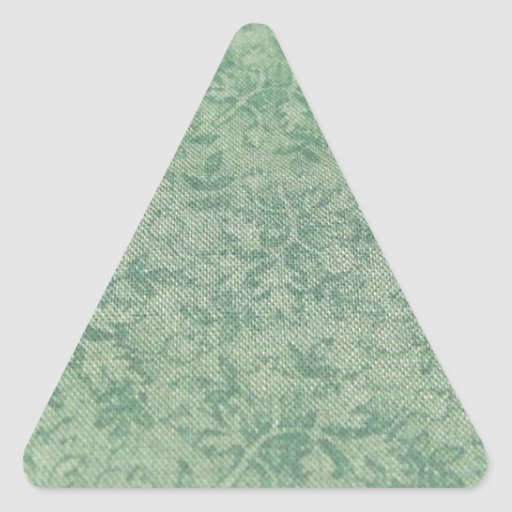 Hojas del verde pegatina triangular