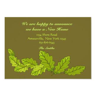Hojas del verde que mueven la invitación