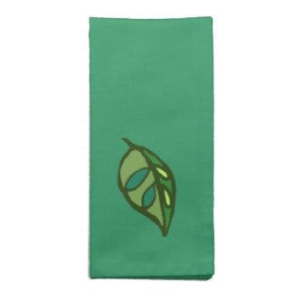 hojas del verde servilletas de papel