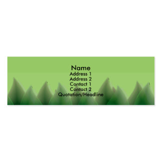 Hojas del verde tarjetas de visita mini